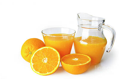 Nutrient Photograph - Orange Juice by Carlos Caetano