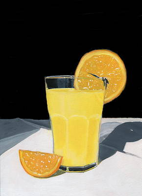 Stillife Painting - Orange Juice by Karyn Robinson