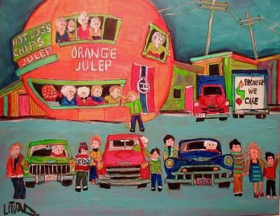 Painting - Orange Julep All Stars by Michael Litvack