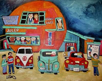Mpntreal Painting - Orange Julep by Michael Litvack
