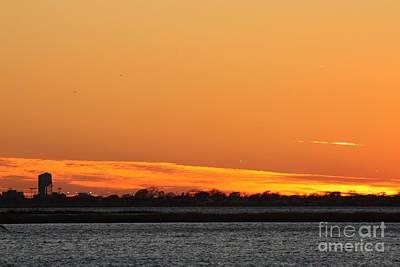 Photograph - Orange Layered Long Island Fall Sunset by John Telfer