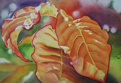 Wall Art - Painting - Orange Leaf Glow by Terry Arroyo Mulrooney