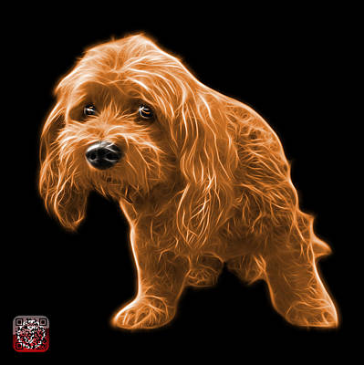Painting - Orange Lhasa Apso Pop Art - 5331 - Bb by James Ahn