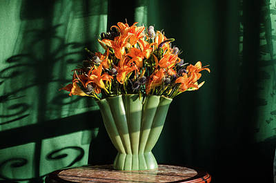Wall Art - Photograph - Orange Lilies In June by Wendy Blomseth