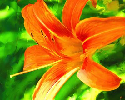 Painting - Orange Lily by Jai Johnson