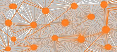 Digital Art - Orange Lines by Linda Velasquez