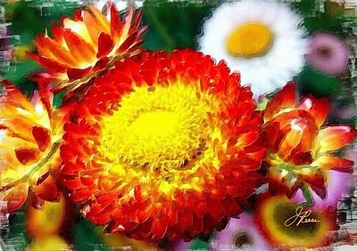 Thomas Kinkade - Orange Marigold by Joan Reese