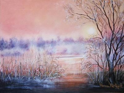 Orange Mist Art Print