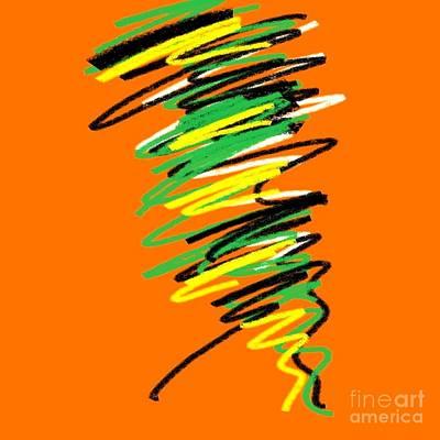 Eliso Digital Art - Orange Multicolor Ing by Eliso Silva