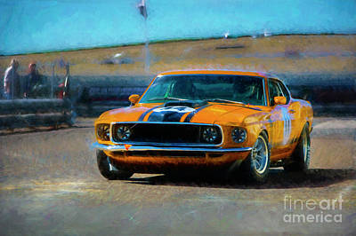 Photograph - Orange Mustang by Stuart Row