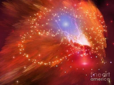 Orange Nebula Art Print