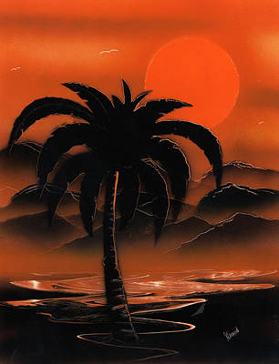 Painting - Orange Oasis by Jason Girard