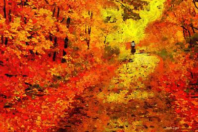 Orange Path - Pa Art Print by Leonardo Digenio