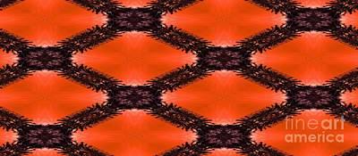 Digital Art - Orange Pattern Coffee Mug by Erika H