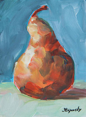 Orange Pear Original by Yulia Kazansky