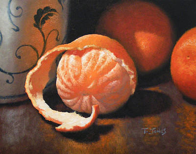 Fruit Painting - Orange Peeled by Timothy Jones