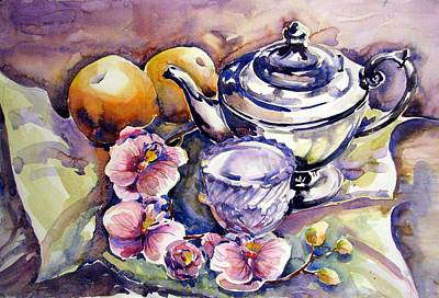 Teapot Painting - Orange Pekoe by Chito Gonzaga