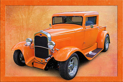 Photograph - Orange Pickup by Keith Hawley