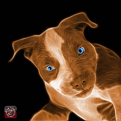 Painting - Orange Pitbull 7435 - Bb by James Ahn