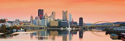 Photograph - Orange Pittsburgh Sunrise by Emmanuel Panagiotakis