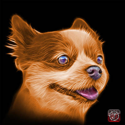 Painting - Orange Pomeranian Dog Art 4584 - Bb by James Ahn