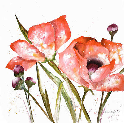 Poppy Painting - Orange Poppies by Arline Wagner