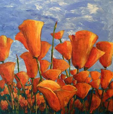 Painting - Orange Poppies by FayBecca Designs