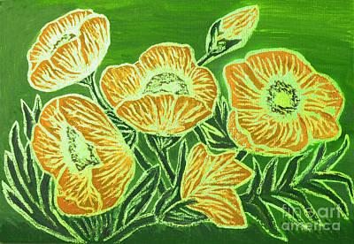 Painting - Orange Poppies, Painting by Irina Afonskaya