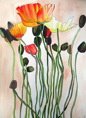 Painting - Orange Poppies by Sacha Grossel
