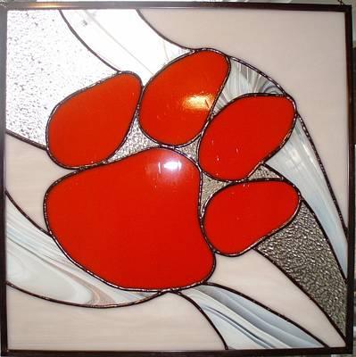 Glass Art - Orange Pride by Liz Lowder