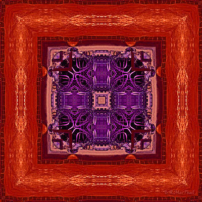 Art Print featuring the photograph Orange Red And Purple Kaleidoscope by Barbara MacPhail