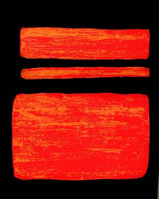 Wrap Digital Art - Orange Red On Black by Marsha Heiken