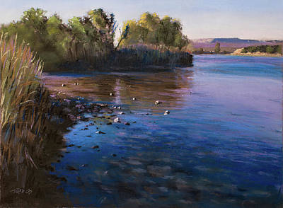 Painting - Orange River Blues by Christopher Reid