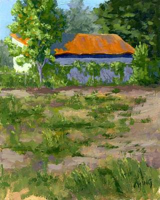 Painting - Orange Roof by David King