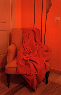 Photograph - Orange Room With Chair by Jenny Rainbow