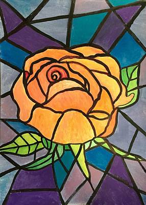 Painting - Orange Rose  by Anne Sands
