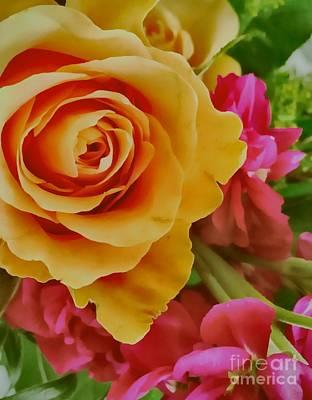 Photograph - Orange Rose by Jenny Revitz Soper