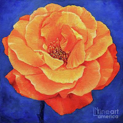 Painting - Orange Rose by Lisa Norris