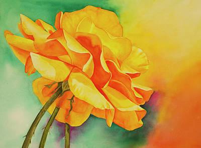 Wall Art - Painting - Orange Rose by Terry Arroyo Mulrooney