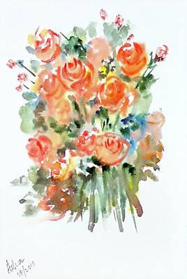 Painting - Orange Roses by Asha Sudhaker Shenoy