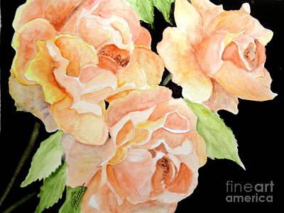 Painting - Orange Roses by Carol Grimes