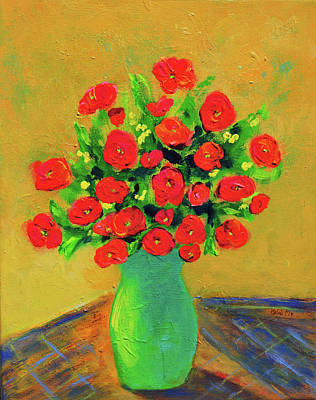 Painting - Orange Roses For Gratitude by Haleh Mahbod