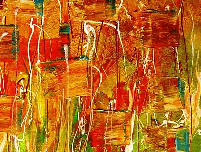 Pietyz Abstractz Artz World Painting - Orange Ryme by Piety Dsilva