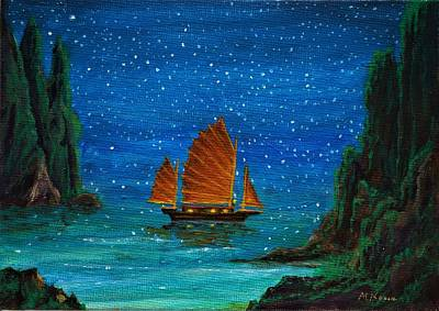 Painting - Orange Sail by Matt Konar