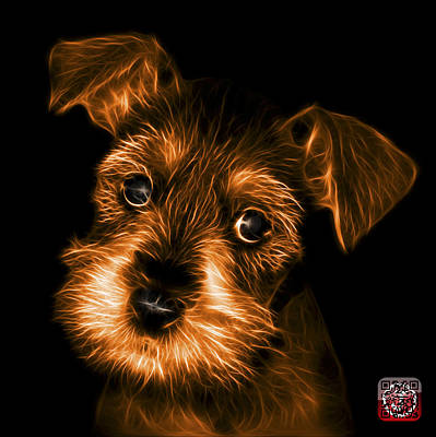 Digital Art - Orange Salt And Pepper Schnauzer Puppy 7206 F by James Ahn
