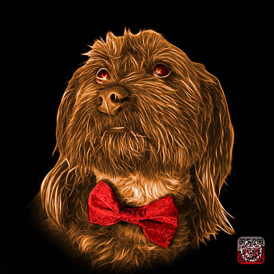 Painting - Orange Schnoodle Pop Art 3687 - Bb by James Ahn