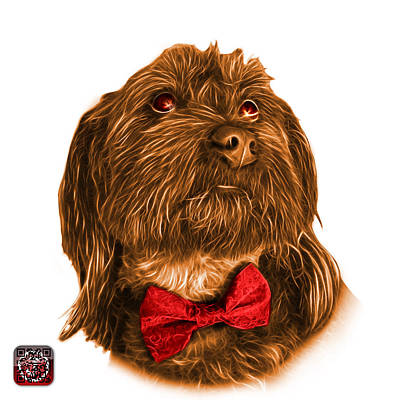 Painting - Orange Schnoodle Pop Art - 3687 by James Ahn