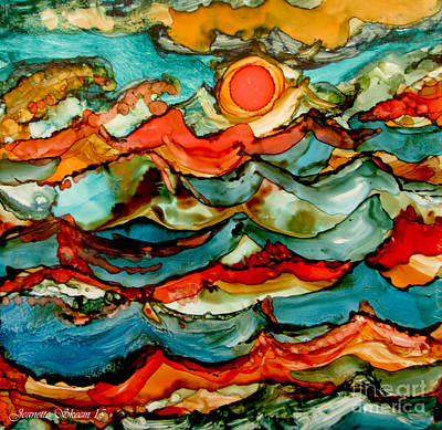 Painting - Orange Sea And Happy Sun by Jeanette Skeem