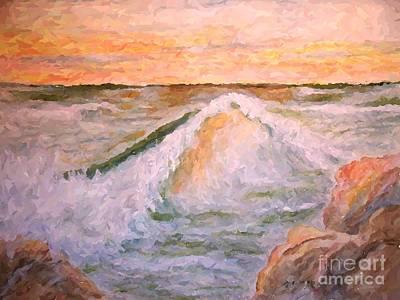 Painting - Orange Seas by Carol Grimes