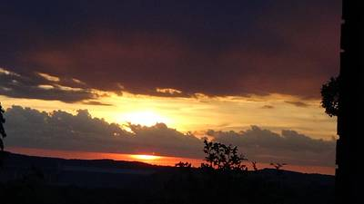 Photograph - Orange September Sunset by Toni Berry